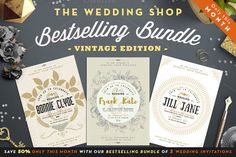 Bestselling Bundle III -50% in April by The Wedding Shop on @creativemarket