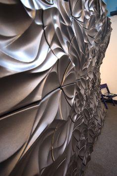 All sizes | Final Installation | Flickr - Photo Sharing! www.kerma.hu wallart , leather covering, wallpanels