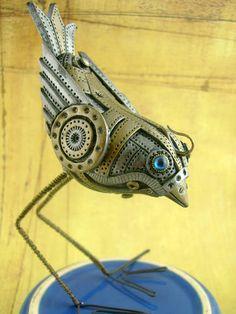 Some NEW Mechanical Birdies - Bulova & Rustbucket! - POTTERY, CERAMICS, POLYMER CLAY http://monsterkookies.com/