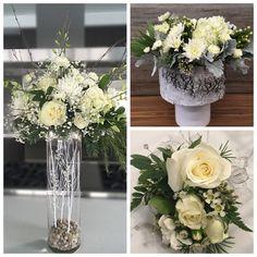 Floral Arrangements, Glass Vase, Floral Design, Table Decorations, Winter, Christmas, Inspiration, Home Decor, Winter Time