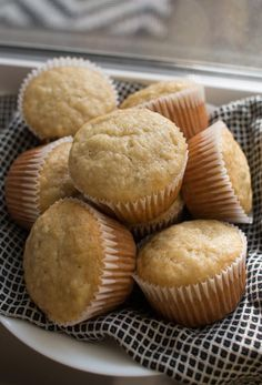 A comforting and simple recipe for Banana Bread Muffins that use up those extra ripe bananas we all have on our counters. A splash of vanilla and sour cream are what keep these muffins extra tasty and Banana Bread Muffins, Make Banana Bread, Banana Nut, Lemon Desserts, Delicious Desserts, Yummy Food, Banana Dessert, Semi Sweet Chocolate Chips, Banana Bread Recipes