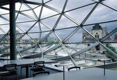 Médiathèque d'Orléans/ BMVR d'Orléans/ 1994 / 7 767m² / Architectes : Pierre du Besset & Dominique Lyon