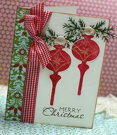 So festively lovely. #Christmas #cards #paper_crafting