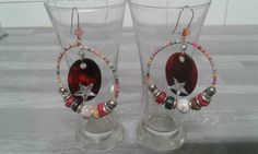 Earrings creole multicolor star rhinestone / by bronzeexotic