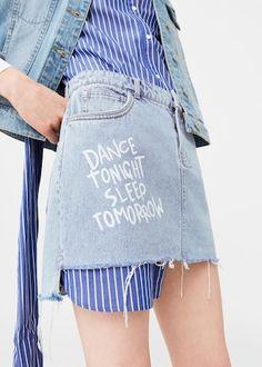 Message demin skirt | MANGO