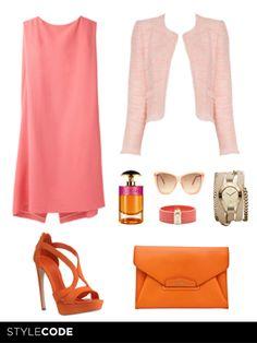 Look rosa y naranja http://www.marie-claire.es/moda/consejos-moda/articulo/combina-rosa-y-naranja-en-tus-looks-de-moda-verano #moda