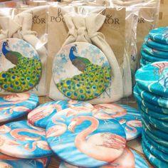 Packaging #handmade pocket #mirrors and #badges this morning. Ceridwen Hazelchild Design