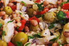Cozinhadaduxa: Salada de Bacalhau com Feijão Frade