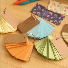 Colorful Key Ring Memo Pads