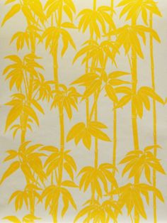 Missing summer already, here's our favourite bright and cheerful Japanese Bamboo (FBW-RF110) by Florence Broadhurst in sunspot yellow. This is part of our Refresh wallpaper range.