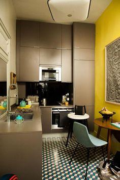 Cuisine Appartement Paris Charlotte Vauvillier et Jean Baptiste Bouvier
