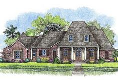 Architectural Designs Acadian House Plan 14178KB - the outdoor kitchen and living room are two great features of this 4 bed, 4 bath plan. Where do YOU want to build this #houseplan?