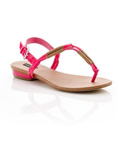 Neon sandals with just enough heel