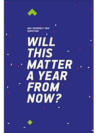Print Will this matter a year from now ? #print #motivation #inspiration