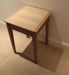 Open-top table, Oak & Walnut. A table I designed, and made whilst on a part-time furniture making course at London Met, UK