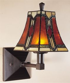 Kenelm Tiffany Art Glass/Mica Wall Sconce Mica/Bronze