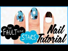 """""""The Fault in Our Stars"""" nails, if you want to show your for Augustus and Hazel Star Makeup, Diy Makeup, Hollywood Nails, Drawing Stars, Nail Pops, Star Diy, Star Nails, Creative Memories, The Fault In Our Stars"""