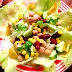 ホワイトバルサミコ酢の甘さとスパイシーでさっぱりサラダ - 66件のもぐもぐ - Cajun salad of beans&cornコーン&ビーンズケイジャンサラダ by honeybunnyb