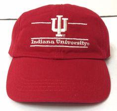 6c365d44328 INDIANA UNIVERSITY HAT Dark Red Beige Low-Crown Relaxed-Fit Cotton  Men Women IU  MVSport  IndianaHoosiers