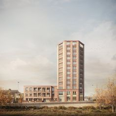 Claridge Architects - Hamborough Tavern Forbes Massie, Hotels, Architecture Visualization, Building Design, Beautiful Homes, Brick, Multi Story Building, Tower, Exterior