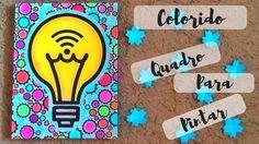 COLORIDO - Quadro para você pintar | Luciana Queiróz