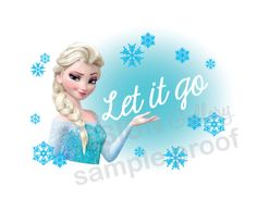 Disney's Frozen Elsa Let it go image DIY by designgallery on Etsy, $3.00