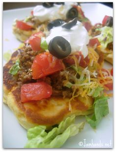 Flat Bread Taco Supreme (Made with Grands biscuits)