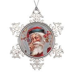 bellous Xmas Trees Decorated Santa Claus Horseshoe Framed Vintage Personalised Christmas Tree Decoration *** You can find out more details at the link of the image.