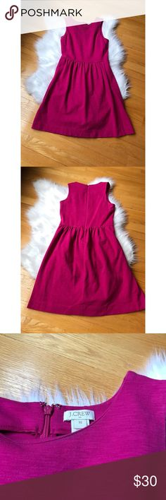 | J Crew| DayBreak Dress Beautiful xs J Crew Day Break Dress. Worn once in great condition. Cotton/ spandex, fitted waist, falls above the knee, back zipper, size seam pockets! Shoulder to bottom: 35' waist: 13 armpit to armpit 15' J. Crew Factory Dresses Midi #beautydresses