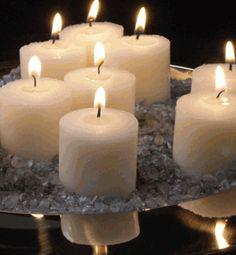 Votive Candles Ivory 10 hr Burn Unscented (21 candles/pkg) $8.00