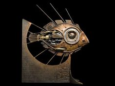 Eye fish - 2005    H. 121 x L. 104 x la. 40 cm    H. 47.7 x L. 41 x w. 15.7 in