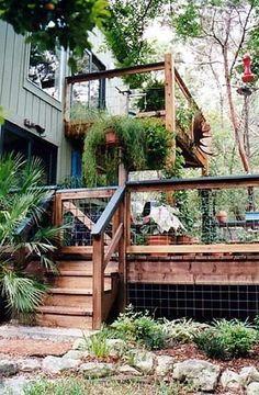 deck with alternative railing