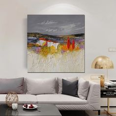 Abstract Landscape Painting, Large Landscape Painting for Bedroom, Hea – Paintingforhome Art Paintings For Sale, Colorful Paintings, Your Paintings, Original Paintings, Oil Painting Texture, Large Painting, Texture Art, Abstract Landscape Painting, Landscape Paintings