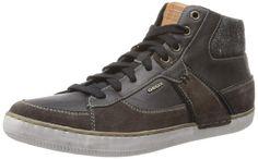 Geox U BOX, Herren Hohe Sneakers, Schwarz (MUD/BLACKC6524), 40 EU (6.5 Herren UK)