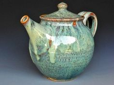 Teapot Ocean Green A by darshanpottery love the glaze