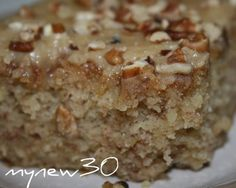 Easy Banana Cake with quick caramel frosting...yum & I have the ripe bananas...made this last night and is so good!