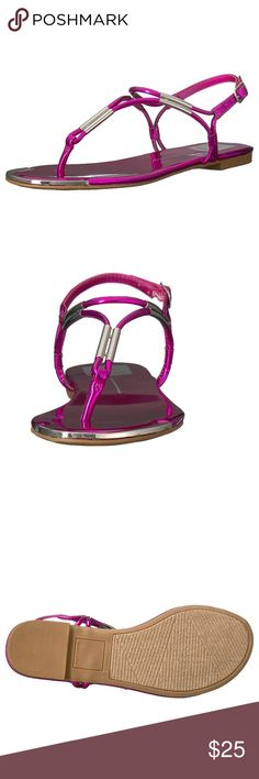 """Dolce Vita Sandal size 8.5 Color is fuchsia. Size 8.5.  Manmade Imported Synthetic sole Heel measures approximately 0.5"""" A classic dolce vita sandal that can take you from day to night Dolce Vita Shoes Sandals"""