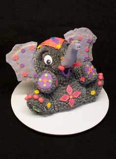 Indian Elephant Cake made for a bridal shower.  www.sweetlywildbakes.com