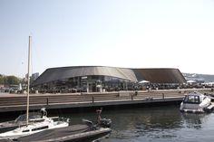 Kebony at restaurant Aonda in Oslo Oslo, Opera House, Restaurant, Building, Travel, Viajes, Diner Restaurant, Buildings, Destinations