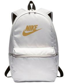 4136eda062 Nike Heritage Metallic-Logo Backpack - Gray Backpack Online, Women Brands,  Metallic,