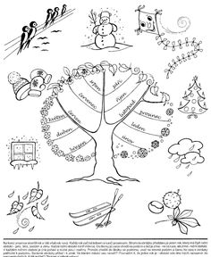 klikni pro další 43/384 Weather For Kids, Weather Art, Weather Seasons, Elementary Science, Science For Kids, Seasons Of The Year, Four Seasons, Free Coloring Pages, Coloring Books