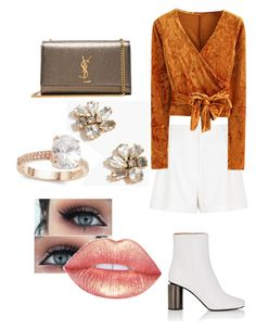 """""""Sin título #149"""" by natalia-camargo14 on Polyvore featuring moda, Acne Studios, Yves Saint Laurent, River Island, WithChic, J.Crew y Saks Fifth Avenue"""