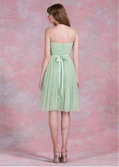 Fabulous Tulle Spaghetti Straps Neckline Knee-length A-line Bridesmaid  Dresses With Belt Bridesmaid 95e8f7e63