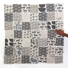 DIY Fabric Squares - Shades of Grey