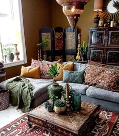 Good morning insta friends!  Today I'm sharing an amazing bohemian home and this week's #BohoisMyJam feature--@frizzyninja. It's a perfect example of why I adore Instagram and this hashtag so much--I had never seen this account before this weekend and now I am in complete and utter love ! Feast your eyes on this romantic Moroccan inspired beauty. I just want to crawl into this picture curl up on the cushions and be transported to another land and time. And that is what a bohemian home will…