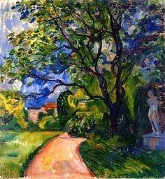 bofransson:  Garden in Lübeck Edvard Munch - 1903
