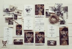 "Wedding Stationery ""Image with Bogart"" / Brown by Pan Lis, via Behance"