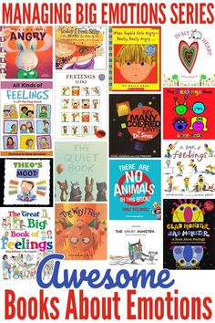 16 books for helping children learn to identify emotions and their causes, and for helping children learn strategies for managing their own feelings and emotions.