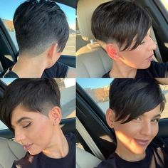 Pixie Wedge - Short Pixie Cuts for 2019 – Everything You Should Know About a Pixie Cut - The Trending Hairstyle Short Pixie Haircuts, Pixie Hairstyles, Short Hairstyles For Women, Short Hair Cuts, Cool Hairstyles, Short Hair Styles, Pixie Cuts, Black Hairstyles, Undercut Pixie Haircut