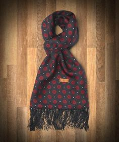 Fred Perry - Rose Print Silk Scarf